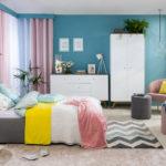 Kolorowa sypialnia